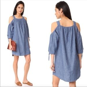 Madewell Cold Shoulder Chambray Denim Dress